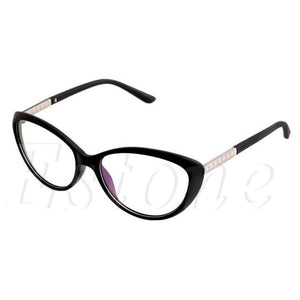 fbe25b7095e New Women Optical Glasses Spectacle Frame Cat Eye Eyeglasses Anti-fatigue  Computer Readingmodkily