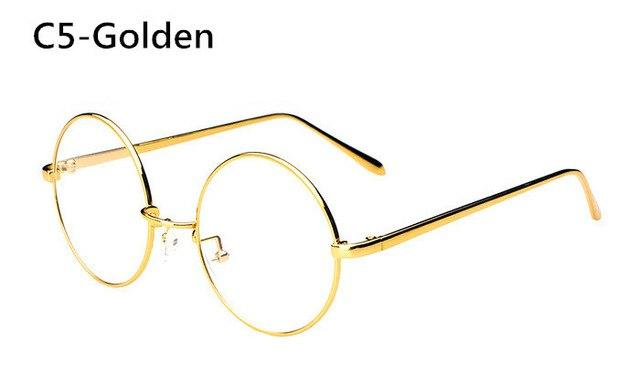 Big Round Metal Glasses Frame Women Men Retro Eyewear Fashion Ultra Lightmodkily-modkily