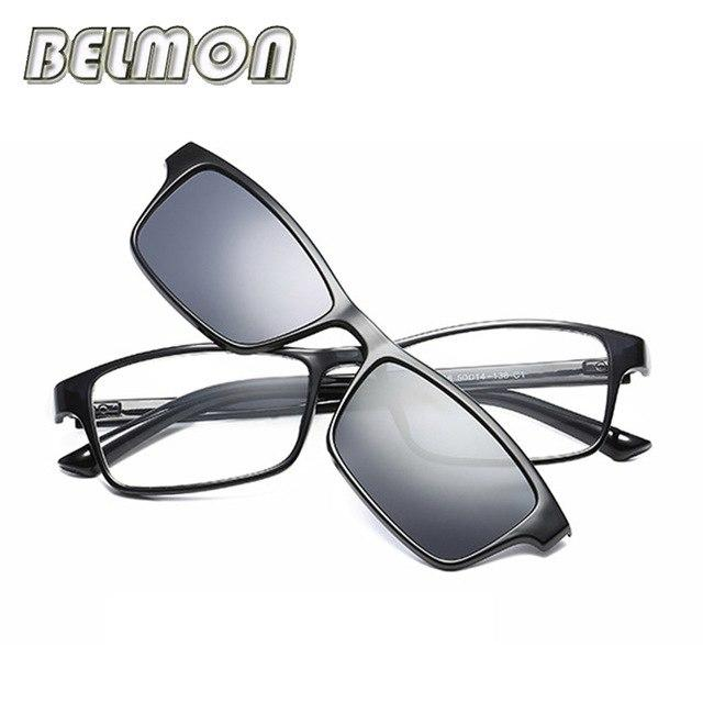 BELMON Optical Eyeglasses Frame Men Women Fashion Clip On Magnets Polarized Sungllassesmodkily-modkily