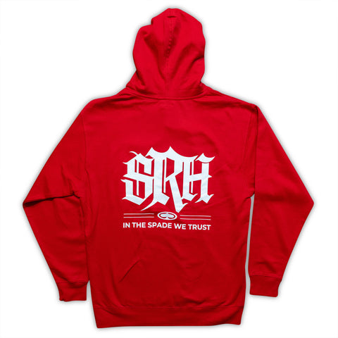 In The Spade We Trust Hoodie - red