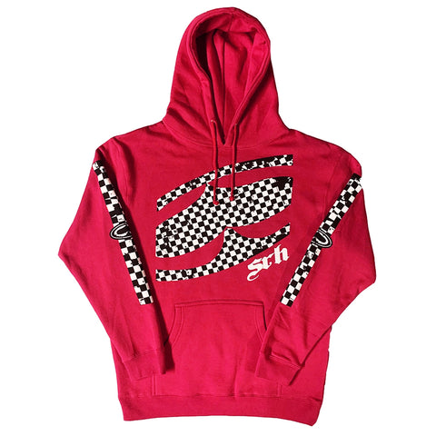 Checked Out - Red Hoodie