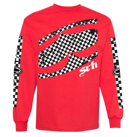 Checked Out Red Long Sleeve