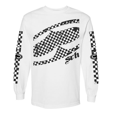 Checked Out Long Sleeve - White