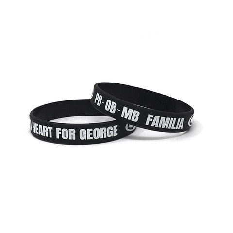 SRH - A Heart For George Wristbands (Black)