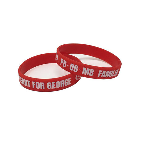 SRH - A Heart For George Wristbands (Red)