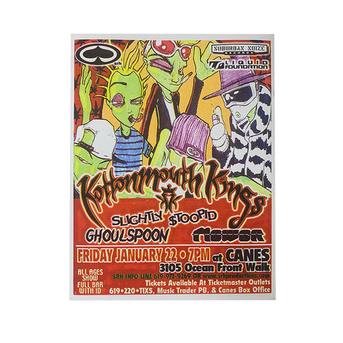 SRH Punk rock show poster - Kottonmouth Kings