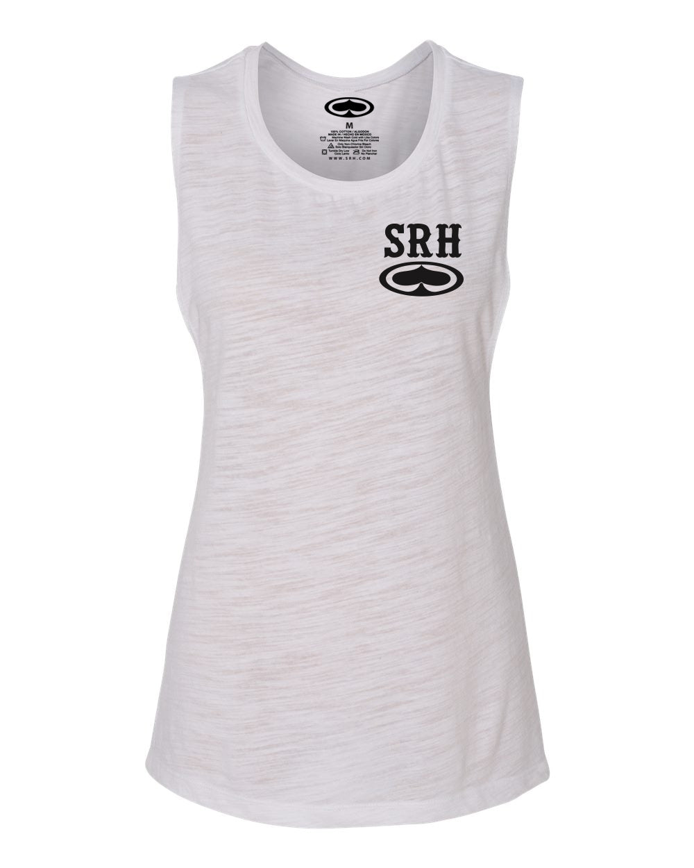 SRH Rocker Womens Slub Tank Top (White)