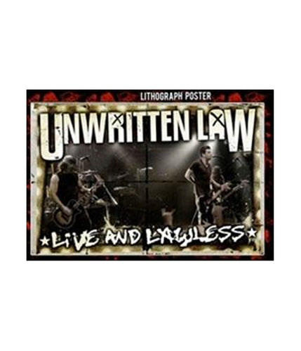 Unwritten Law - Live and Lawless Lithograph Poster