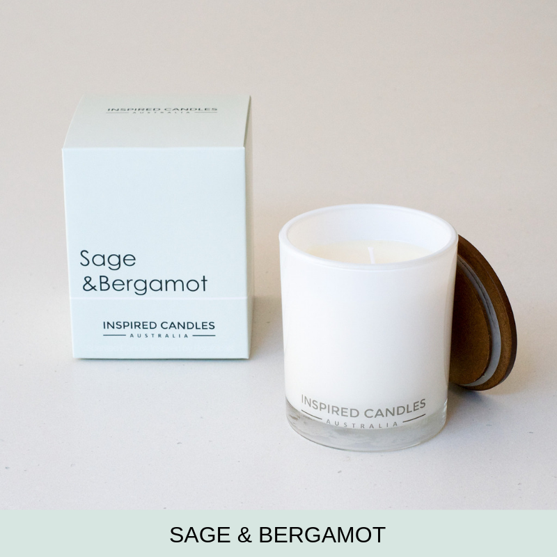 Sage & Bergamot Candle - Inspired Candles