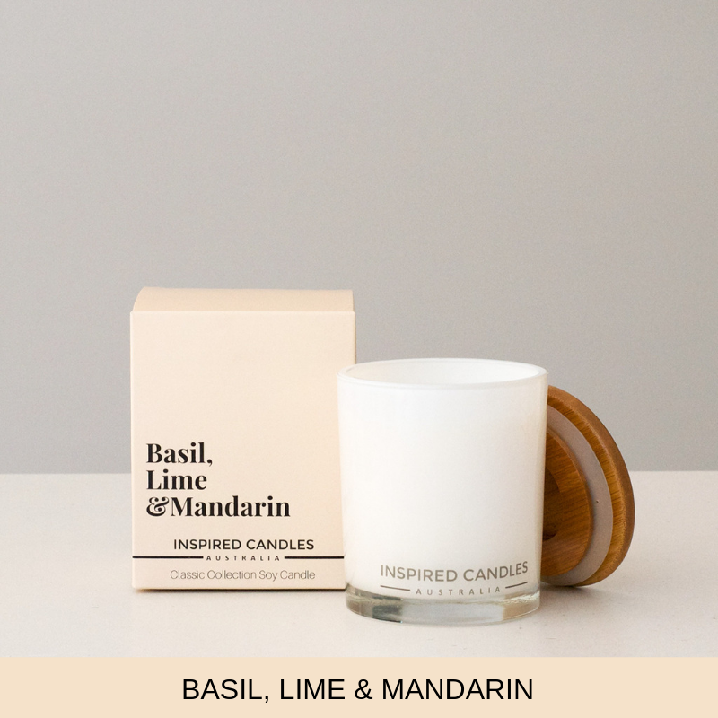 Basil, Lime & Mandarin Candle - Inspired Candles