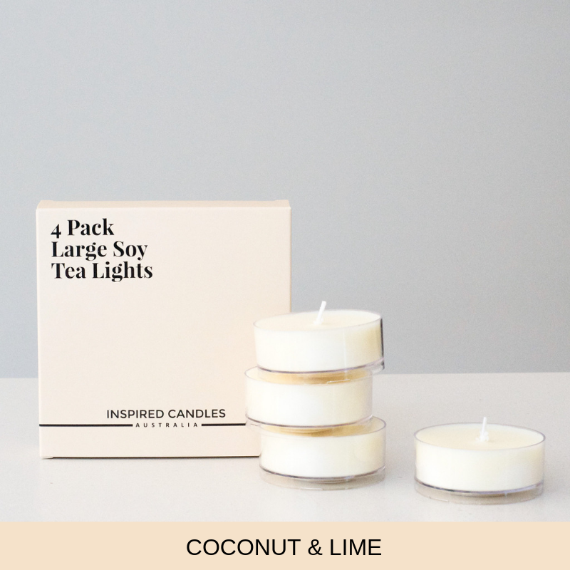 Coconut & Lime 4 pack - Inspired Candles