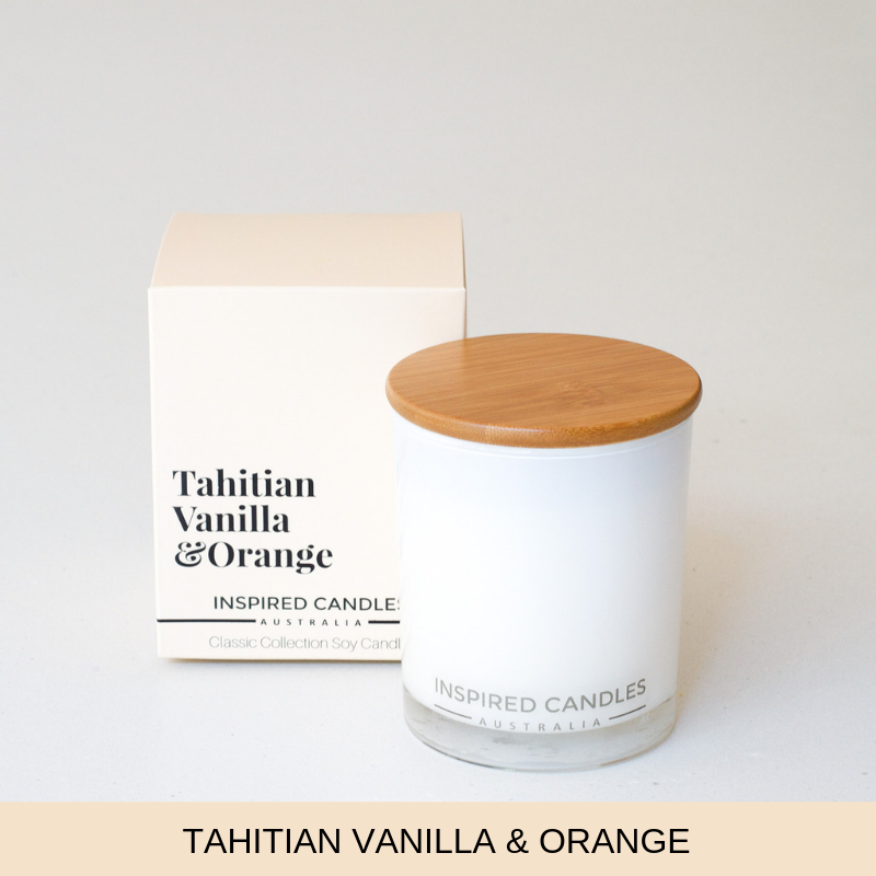 Tahitian Vanilla & Orange Candle - Inspired Candles