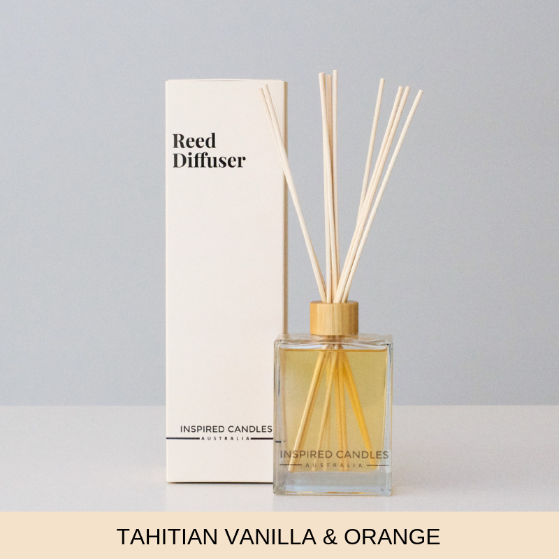 Tahitian Vanilla & Orange Reed Diffuser - Inspired Candles