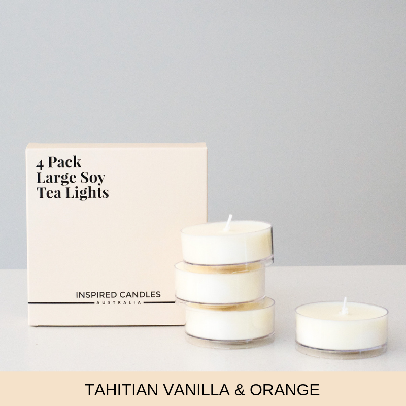 Tahitian Vanilla & Orange 4 pack - Inspired Candles