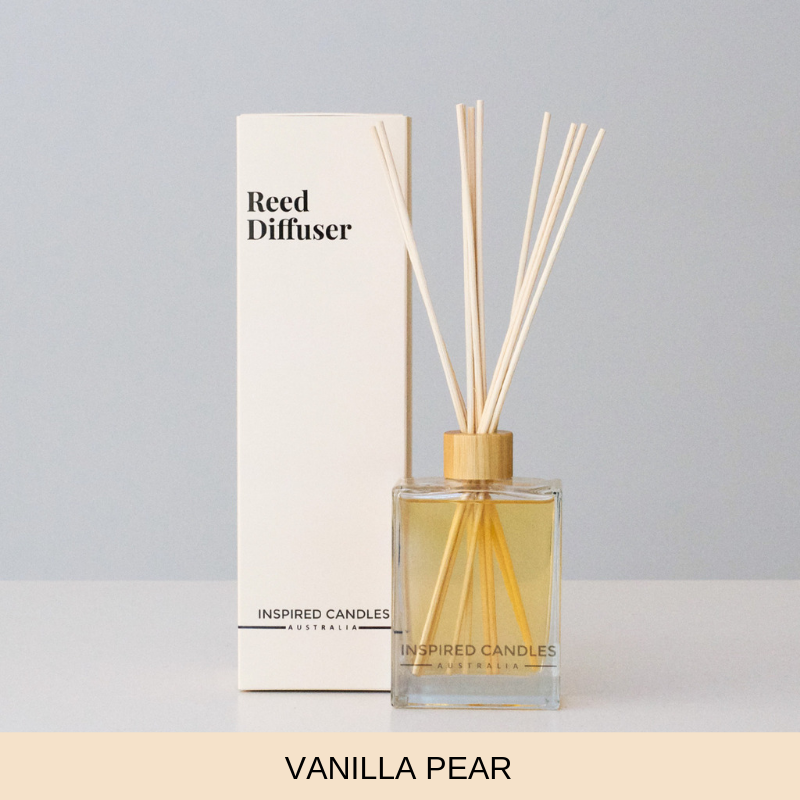 Vanilla Pear Reed Diffuser - Inspired Candles