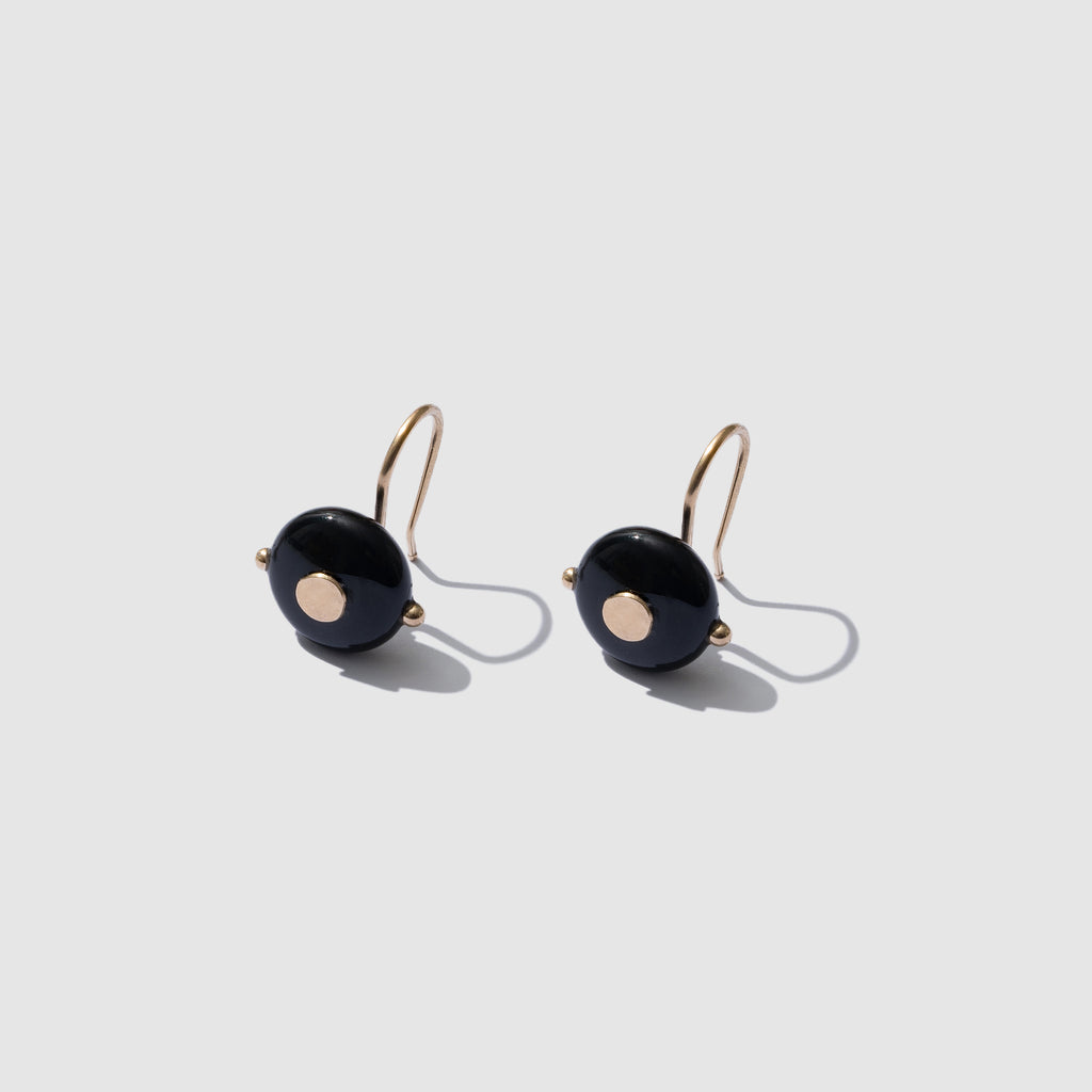 BLACK AGATE ATHENA EARRINGS