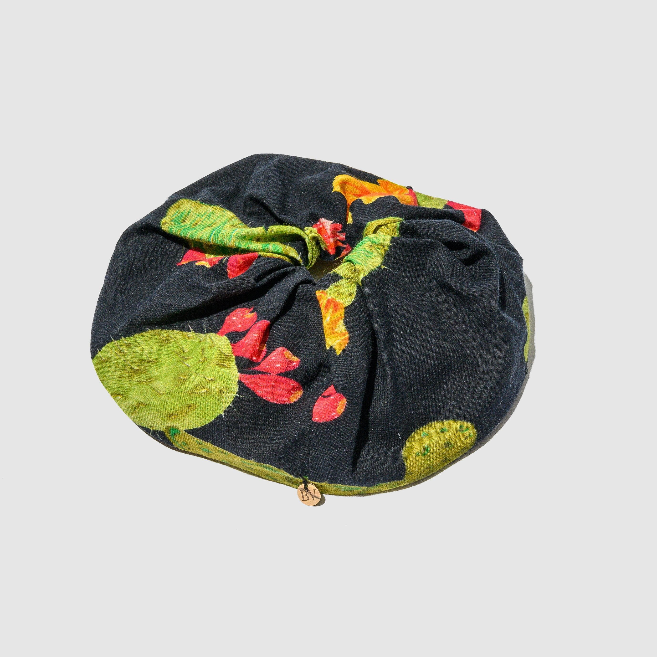 ACCESSORIES - BLACK OPUNTIA COTTON HAIR TIE