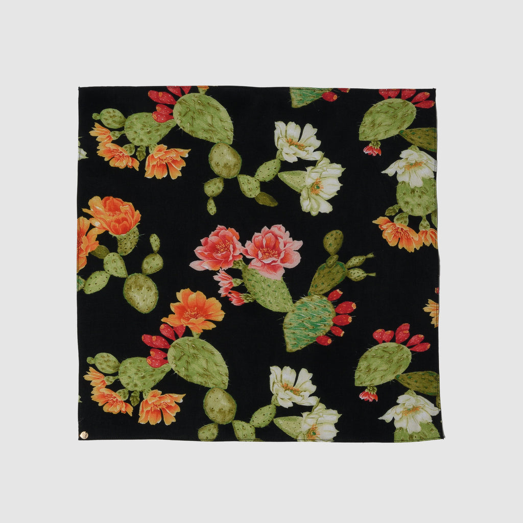 ACCESSORIES - BLACK OPUNTIA COTTON PAÑUELOS