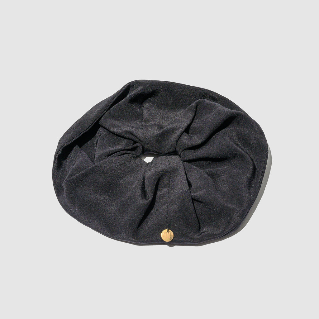 ACCESSORIES - BLACK SILK HAIR TIE
