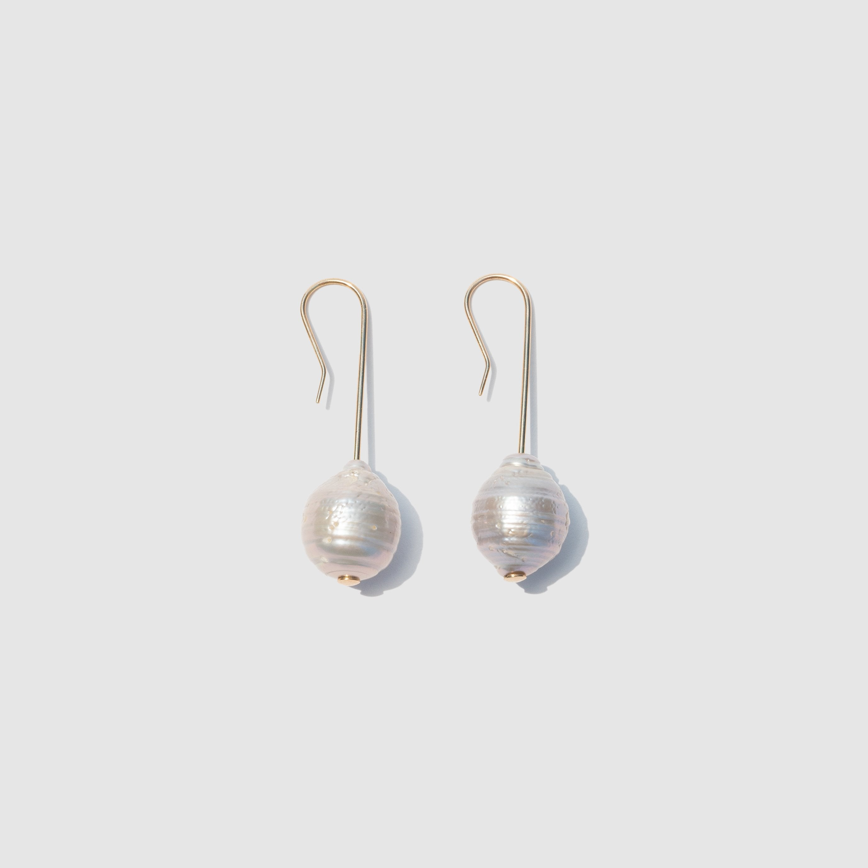 JEWELRY - GREY PEARL EARRINGS