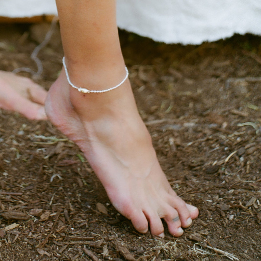 JEWELRY - RICE PEARL BRUJERIA ANKLET