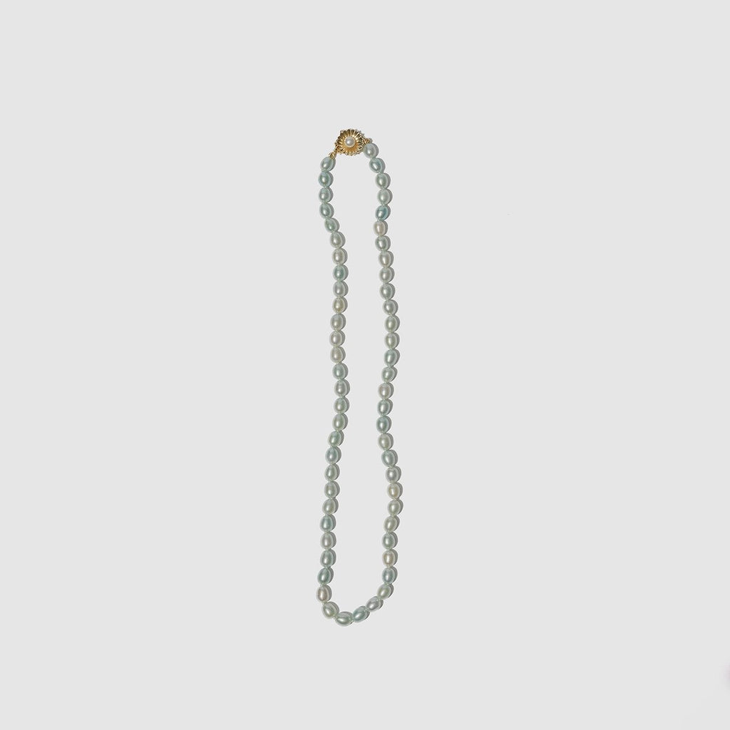 JEWELRY - SEAFOAM PEARL NECKLACE WITH PEARL CLASP