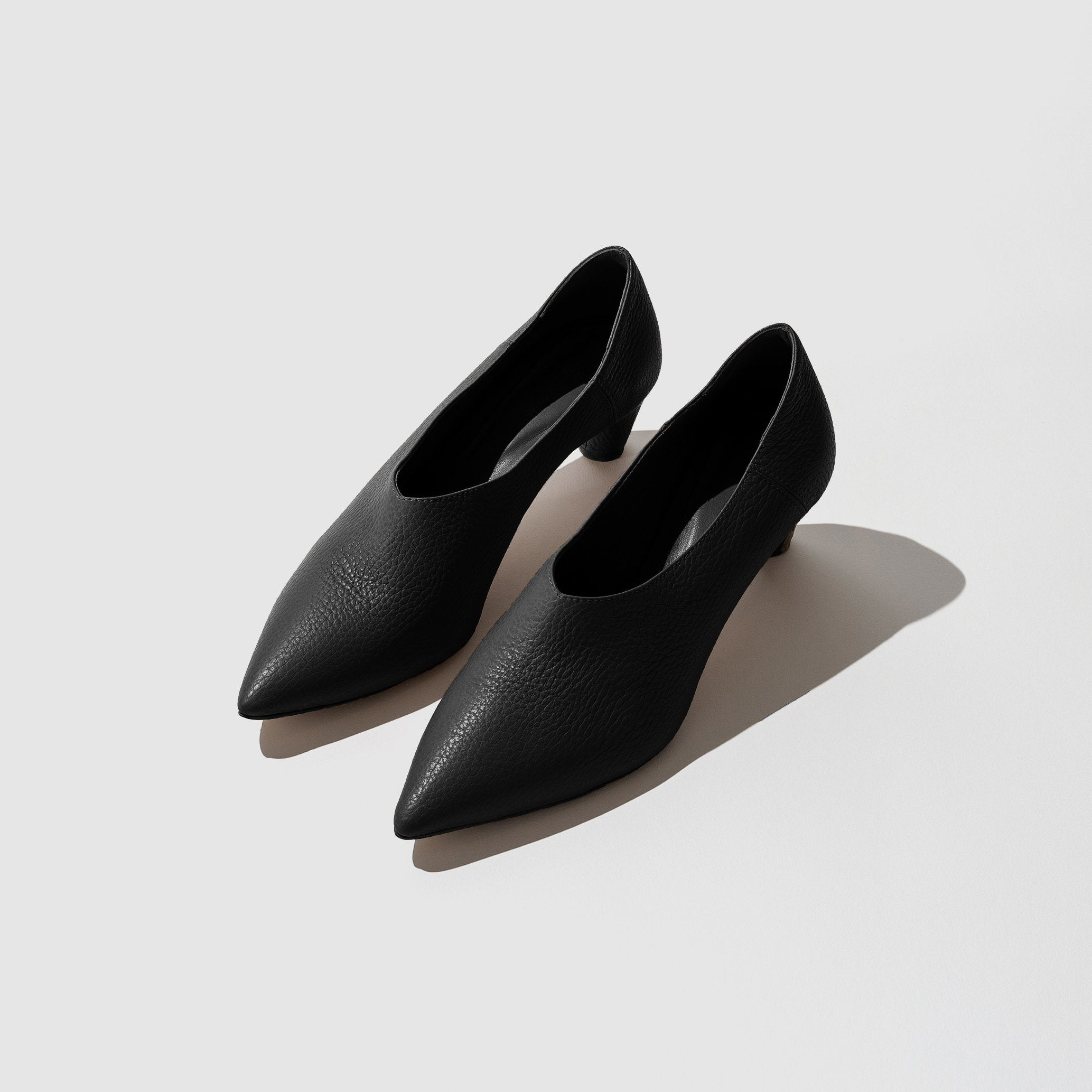 SHOES - BABOUCHE HEEL BLACK