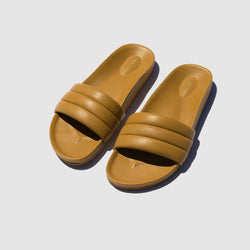 SHOES - OCHRE MONOCOLOR SANDALIA