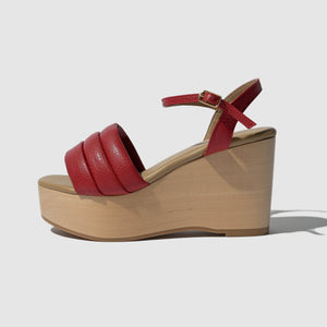 SHOES - SANDALIA WEDGE LIPSTICK