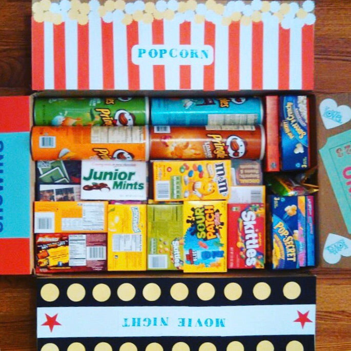 'Movie Night' Care Package (With a Letter/Note)