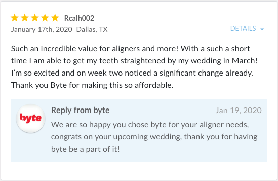 Review by Rcalh002 stating, Such an incredible value for aligners and more!