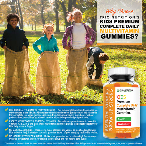 Premium Kids Multi with ZINC | Immune & Energy Support