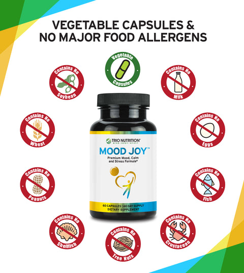 No Allergeis, Vegan and Vegetarian Supplement for balanced mood, stress, anxiety and better sleep