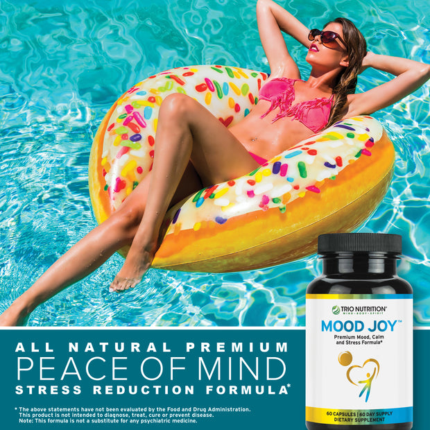 Calm your mood, relax, anti-stress all natural supplement or capsule