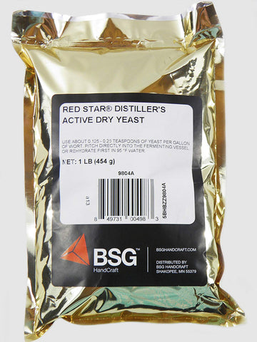 Red Star Distiller's Active Dry Yeast - 1 Lb - The Brewmeister
