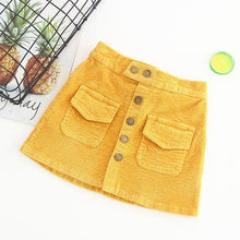 Load image into Gallery viewer, Autumn winter baby girl Corduroy Skirt