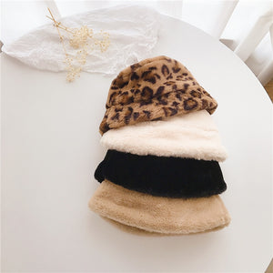 Faux Fur Girls Bucket Hats