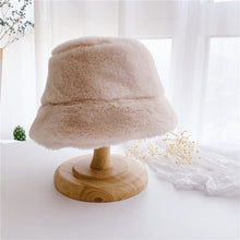 Load image into Gallery viewer, Faux Fur Girls Bucket Hats