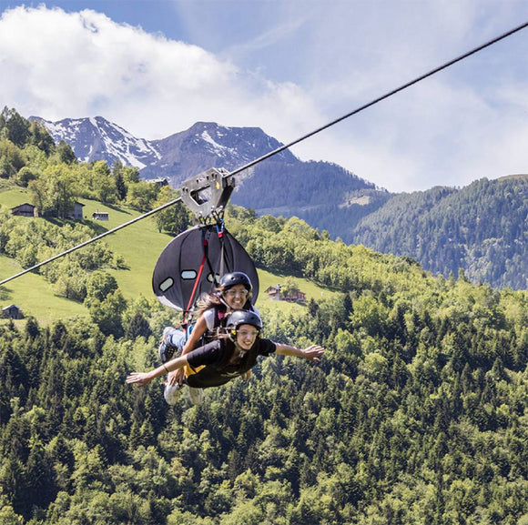 Ziplining in Lake Como