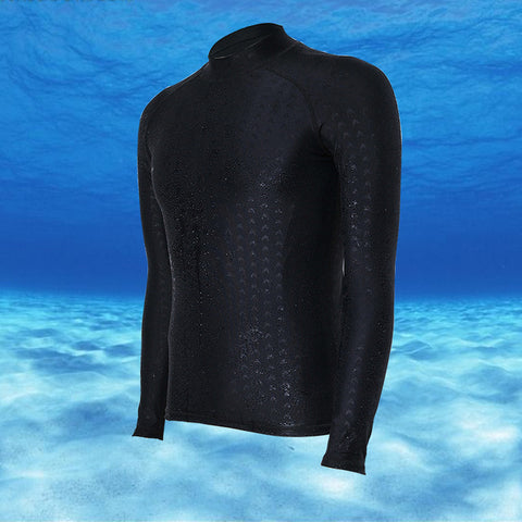 Triathlon Shark Skin Pattern Rashguard for men