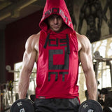 Men's Sleeveless Hooded Tank top