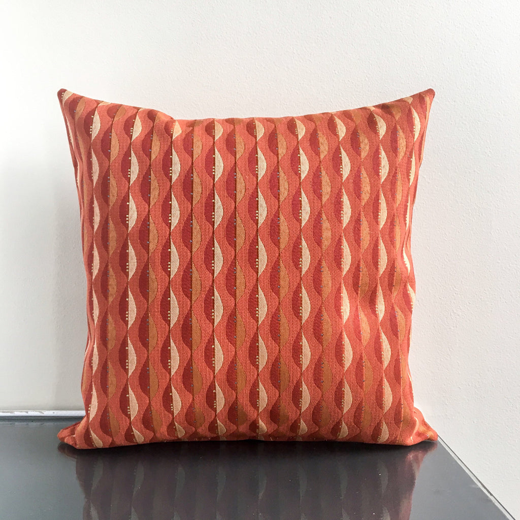 18x18 Dark Orange Outdoor Pillow Cover | Water Resistant | Colorful Outdoor Decor