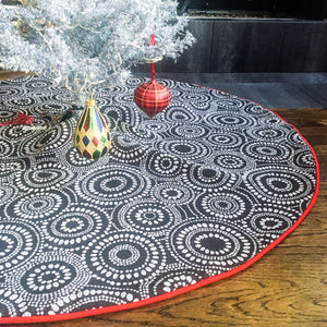 "48"" Scandinavian Reversible Christmas Tree Skirt 