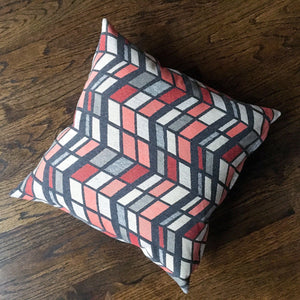 18x18 Outdoor Fabric and Vinyl Pillow Covers | Red, Gray, White | Durable, Water Resistant Outdoor Decor