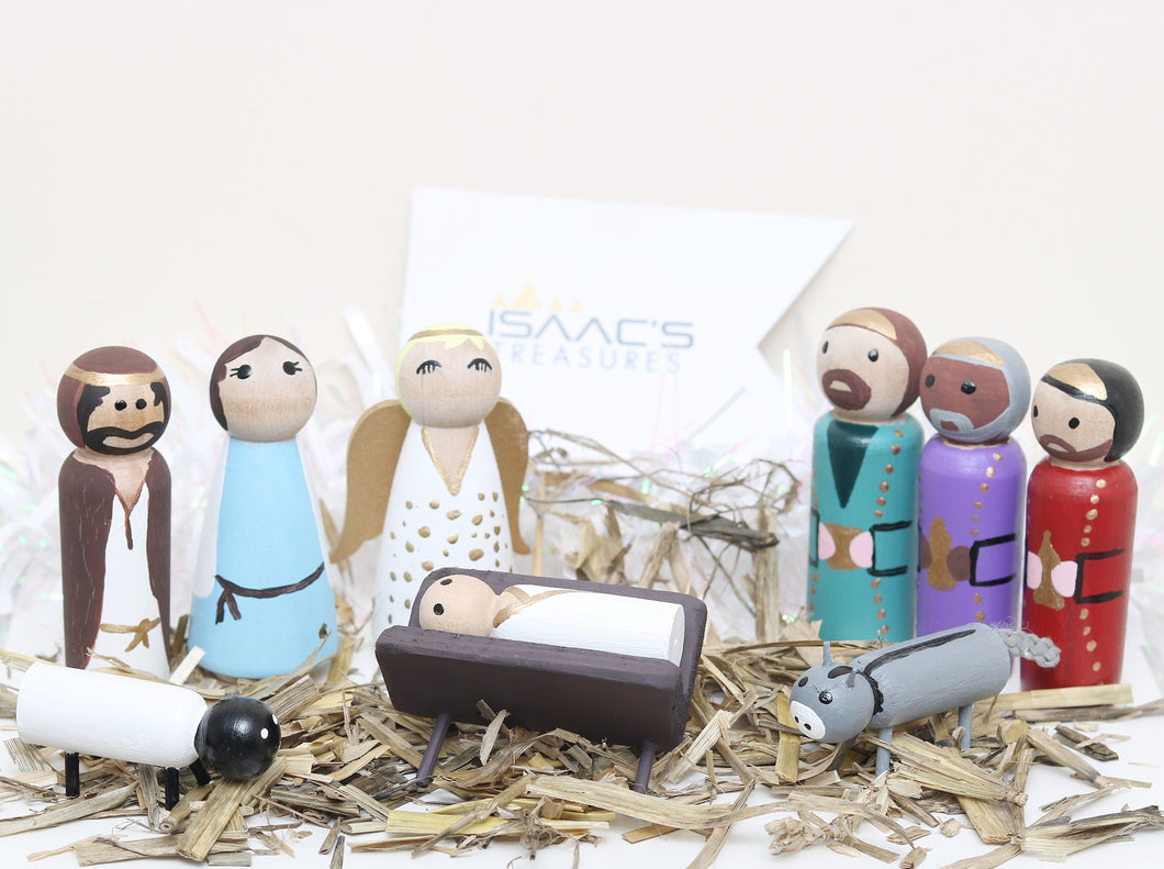 Peg Doll Nativity Set