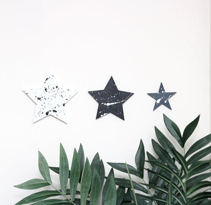 Set of 3 Star Wall Plaques