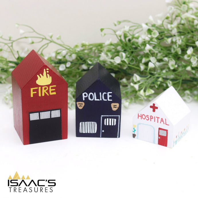 Set of 3 Emergency Buildings