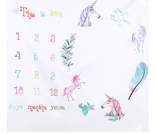 Unicorn Baby Milestone Sheet