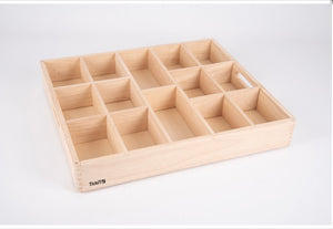 Tickit Wooden Sorting Tray - 14 Way