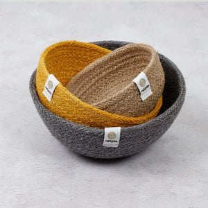 ReSpiin Jute Mini Bowl Set x3 Beach